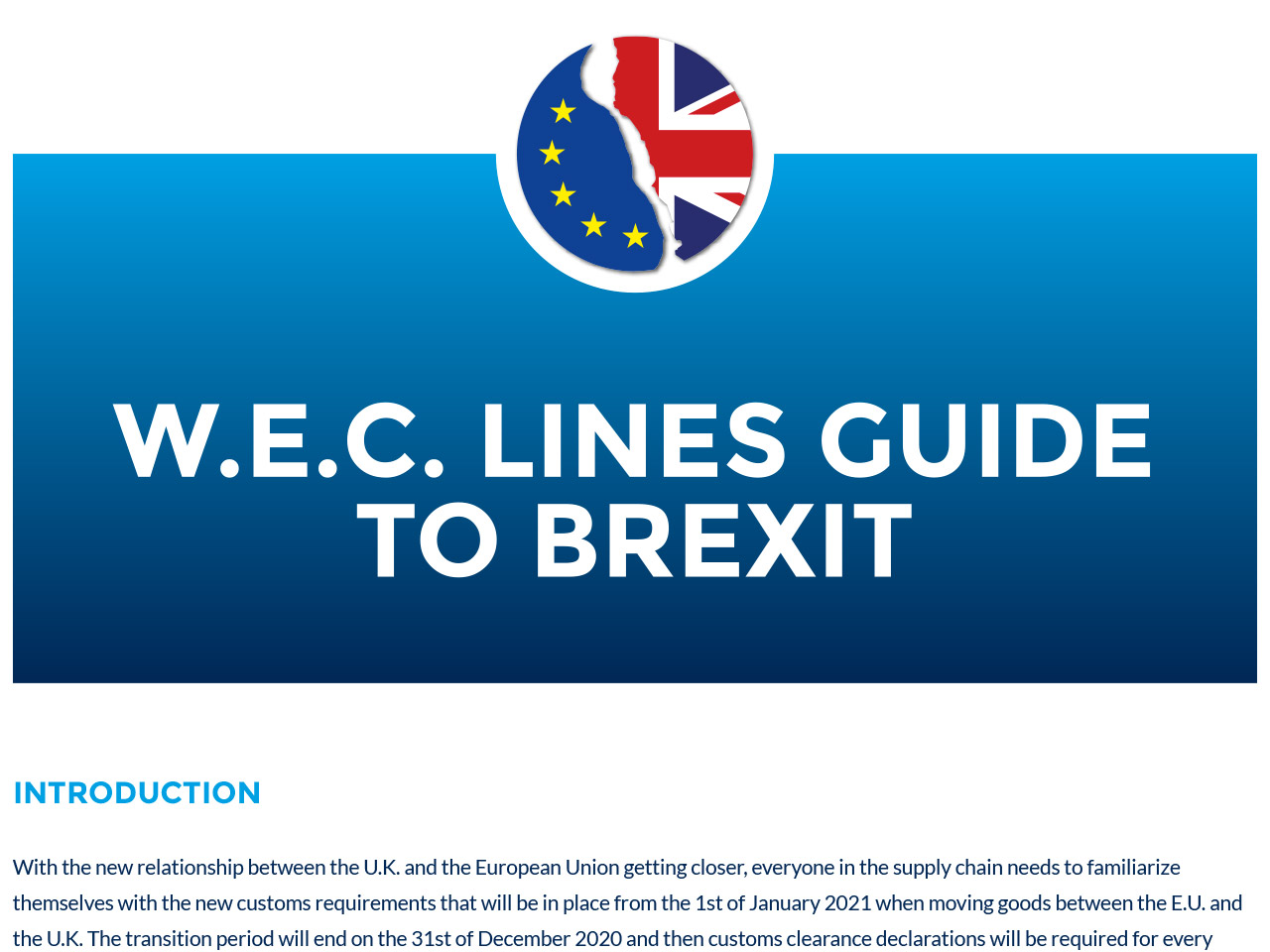 W.E.C. Lines guide to brexit
